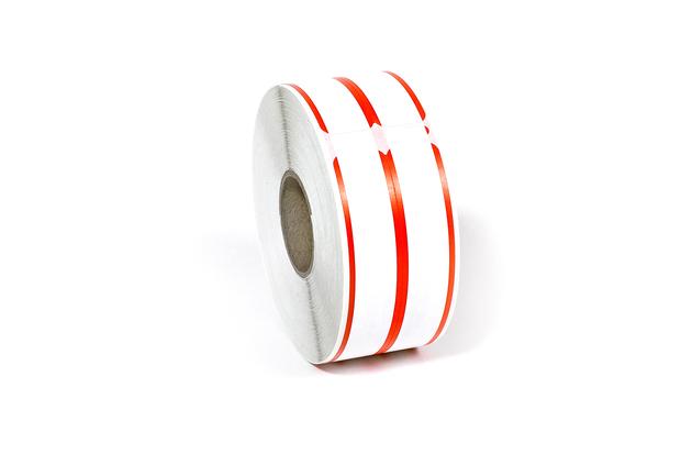 "Dymo LW File Folder Labels, 2-up 9/16"" x 3 7/16"" Red Stripes"