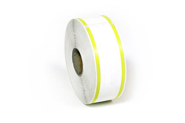 "Dymo LW Address Labels 1 1/8"" x 3 1/2"" Yellow Stripes"