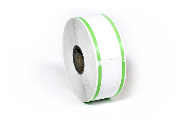 "Dymo LW Address Labels 1 1/8"" x 3 1/2"" Green Stripes"