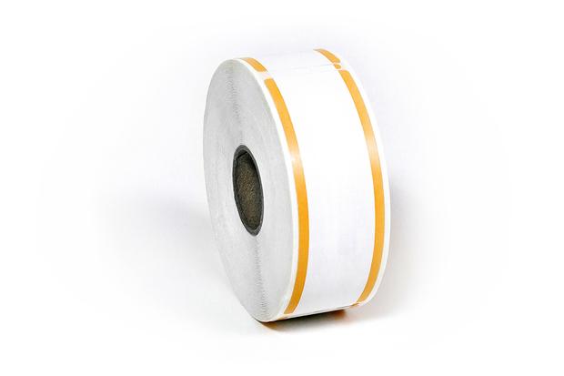 """Dymo LW Address Labels 1 1/8"""" x 3 1/2"""" Orange Stripes"""