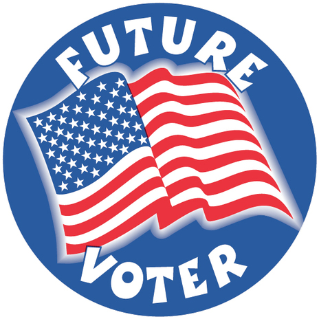 "Future Voter 2"" Circle Stickers"