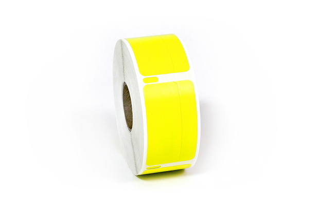 "Dymo LW Return Address Labels 3/4"" x 2"" Piggyback Yellow"