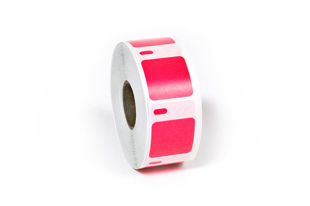 "Dymo LW Multi-Purpose Labels, Square 1"" x 1"" Red"