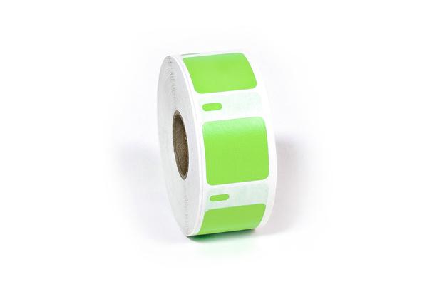 "Dymo LW Multi-Purpose Labels, Square 1"" x 1"" Green"