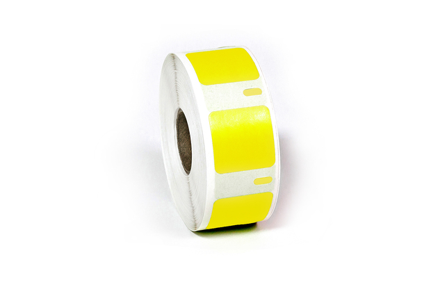 "Dymo LW Multi-Purpose Labels, Square 1"" x 1"" Yellow"