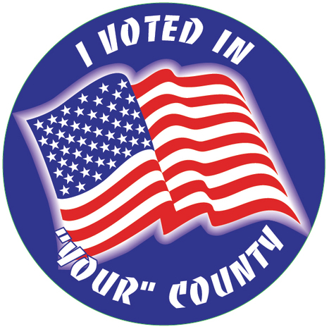 Custom I Voted Stickers