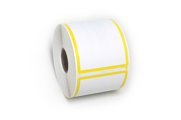 "Dymo LW Shipping Labels 2 5/16"" x 4"" Yellow Border"