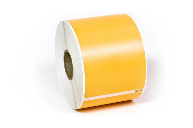 """Dymo LW Removable Shipping Labels 2 5/16"""" x 4"""" Orange"""