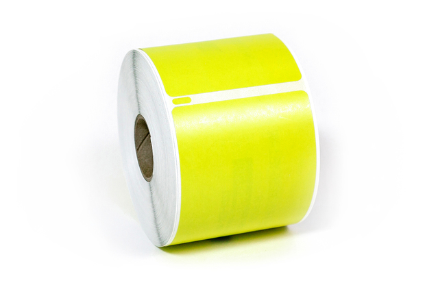"""Dymo LW Removable Shipping Labels 2 5/16"""" x 4"""" Yellow"""
