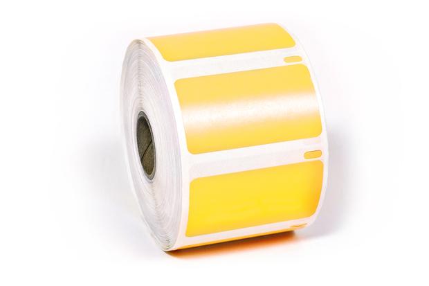 "Dymo LW Multi-Purpose Labels, Medium 2 1/4"" x 1 1/4"" PanYellow"