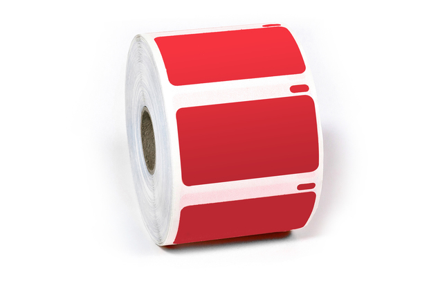 "Dymo LW Multi-Purpose Labels, Medium 2 1/4"" x 1 1/4"" Red"