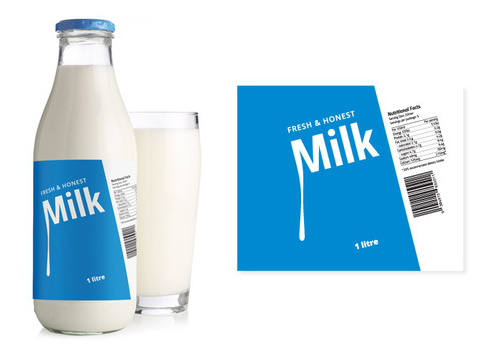 Milk Bottle Labels