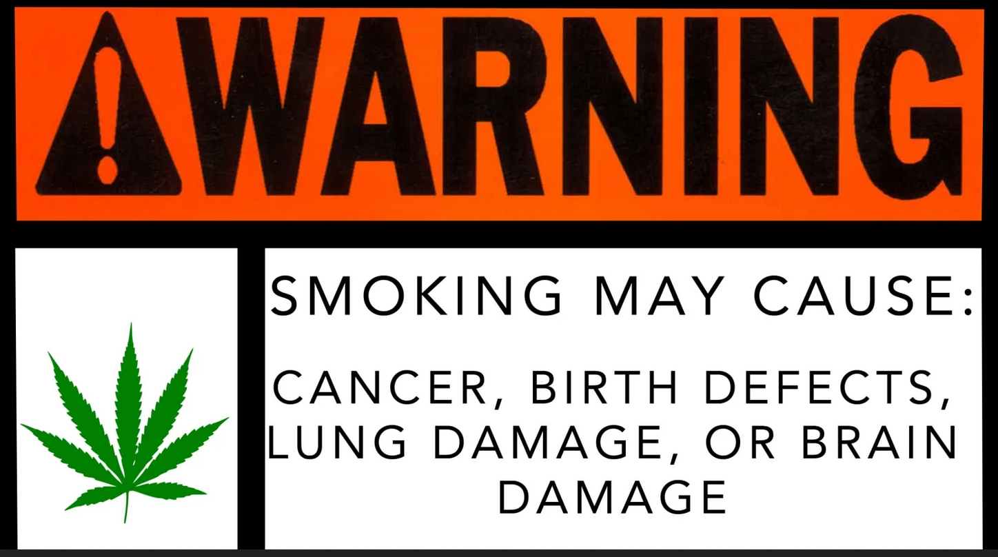 Marijuana Warning Labels
