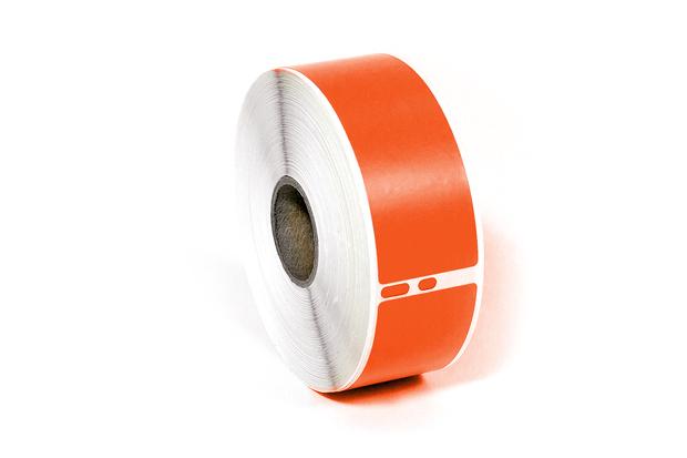 "Dymo LW Address Labels 1 1/8"" x 3 1/2"" Orange Removable"