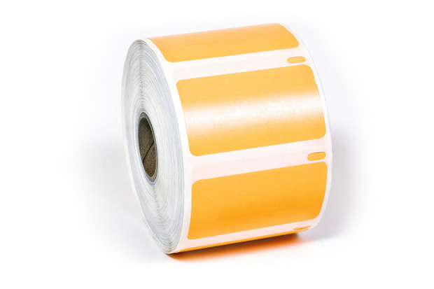 "Dymo LW Multi-Purpose Labels, Medium 2 1/4"" x 1 1/4"" Orange Removable"